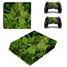 Weed leaf decal skin for PS4 Pro Console & Controllers