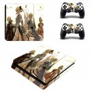 Cartoon Anime decal skin for PS4 Slim Console & Controllers