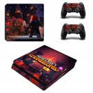 Minecraft Dungeons decal skin for PS4 Slim Console & Controllers
