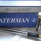 WATERMAN EXECUTIVE FOUNTAIN PEN IN STEEL +BOX +GARANTEE ORIGINAL