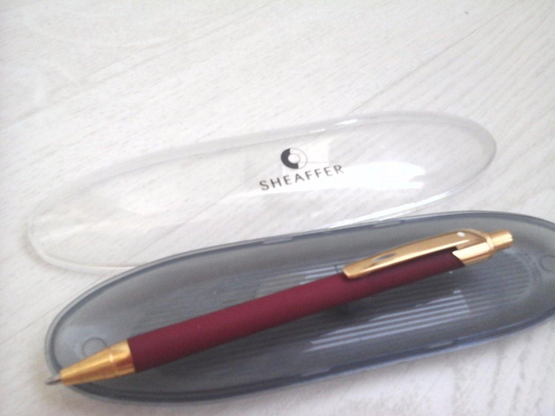 SHEAFFER EVT Red & Gold Ball Pen + Box original great for gift