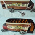 SPANISH BUS TOY IN TIN WIND UP MECHANISM ORIGINAL FROM 1960s