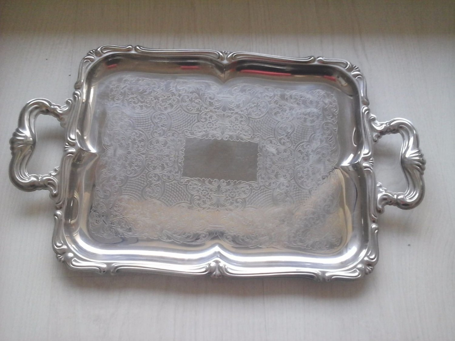 ALESSI TRAY WITH FLOWERS IN STEEL INOX 8/10 ITALY cm 39x24 ORIGINAL