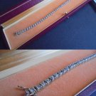 TENNIS BRACELET IN SILVER 925 AND GOLD PLATED WITH SWAROVSKI CRYSTALS