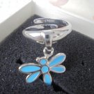 THUN DRAGONFLY RING ENAMELED IN BLUE COLOR ORIGINAL NEW IN GIFT BOX