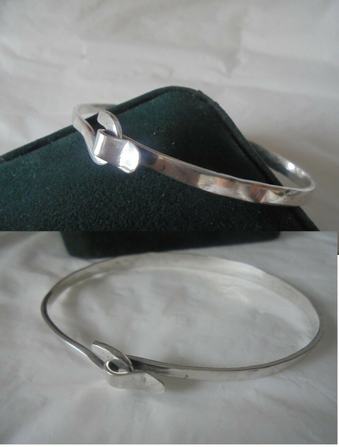 BRACELET IN SILVER 800 WITH KNOT FROM 1960s IN GIFT BOX ORIGINAL