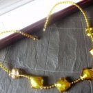 NECKLACE MURANO GLASS made in Italy with gold leaves collana in vetro murano con foglie d'oro 1960s