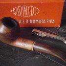 SAVINELLI Tris 673 KS italy pipa in radica fumata smoked pipe '80 + curapipe