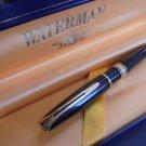 WATERMAN CHARLESTON Black Ebony & Gold Ball Pen + box ORIGINAL