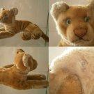 STEIFF GERMANY GIOVANE LEONE YOUNG LION JUNGLOEWE ORIGINAL ANNI '50 BOTTONE cm23