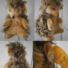 STEIFF GERMANY JOGGI 4312,00 IGEL HEDGEHOG 1964 ORIGINALE CON BOTTONE cm 12