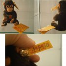 STEIFF GERMANY JOCKO SCIMPANZE CHIMPANZEE 0020/13 030833 ORIGINALE BOTTONE cm 13