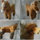 STEIFF GERMANY FERDY BLOND CAVALLO HORSE PFERD 072642 ORIGINALE CON BOTTONE cm34