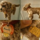 STEIFF GERMANY RAUDI CANE DOG 1317,07 DACHSHUND ORIGINAL 1965 CON BOTTONE cm 17