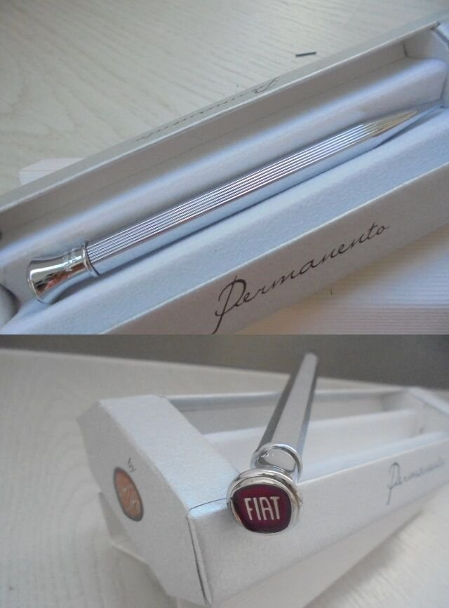 AURORA PERMANENTO CHROME PENCIL PEN CHROMED FOR FIAT + GARANTEE+ box