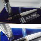 AURORA IPSILON Y FOUNTAIN PEN IN SILVER 925 + garantee + Gift Box