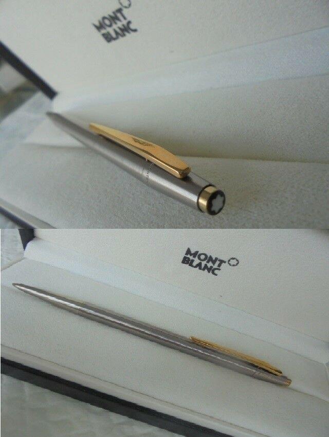 MONTBLANC NOBLESSE SLIM LINE SLIMLINE ball pen in steel + box  ORIGINAL