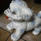 LEDRA DOG cm 23 WITH GLASS EYES 1960s SQUEAKY DOG TOY ORIGINAL