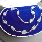 MURANO GLASS ITALY NECKLACE AND IN SILVER STERLING 925 ORIGINAL IN GIFT BOX