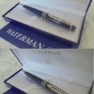 WATERMAN EXPERT II Roller Pen in blue and black color + box + garantee Original