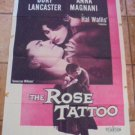 THE ROSE TATOO Anna Magnani and Burt Lancaster Original Film Movie Poster 1955