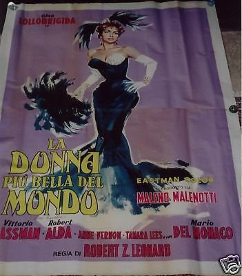 BEAUTIFUL BUT DANGEROUS with Lollobrigida and Gassman Film Movie Poster Original 1955