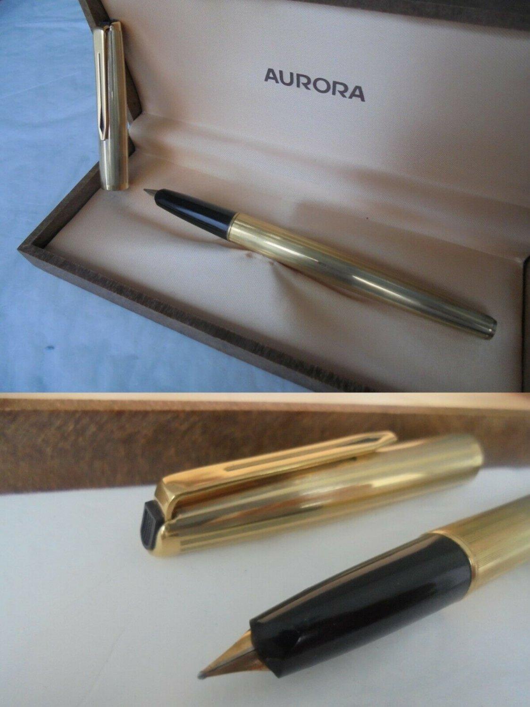 AURORA 98 MILLERIGHE Fountain pen in gold 22K in it's gift box Original