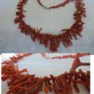 RED CORAL NECKLACE of the Mediterranean Original from 1960s in gift box