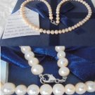 NECKLACE in natural pearls BIWA with clip in white GOLD 18kt in gift box with garantee
