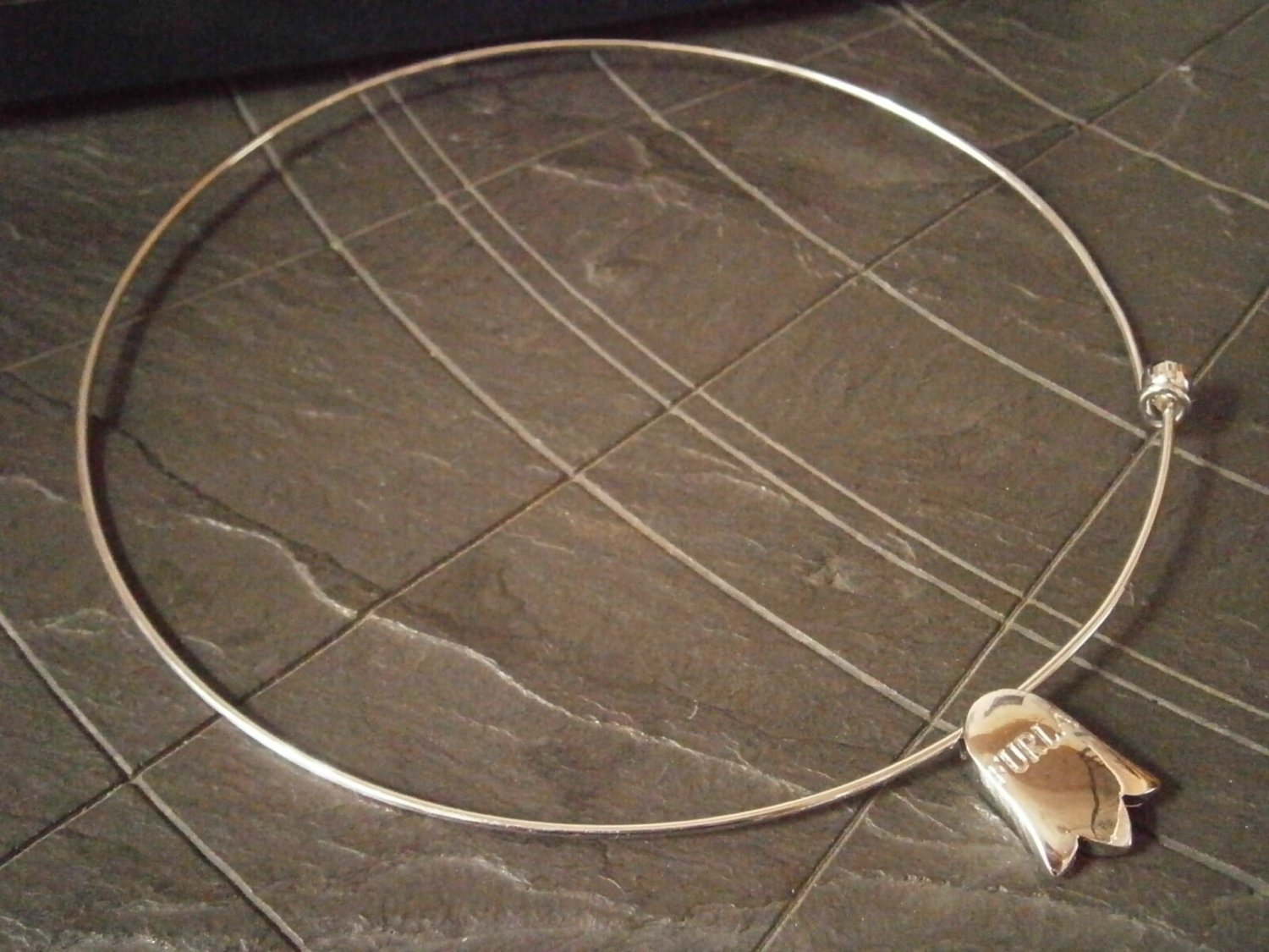 FURLA NECKLACE with PENDENT in steel Original New in gift box