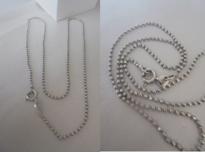 NECKLACE in SILVER STERLING 925 Made in Italy Arezzo in gift box
