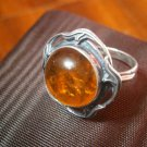 RING in STERLING SILVER 925 and natural Amber Original in gift box