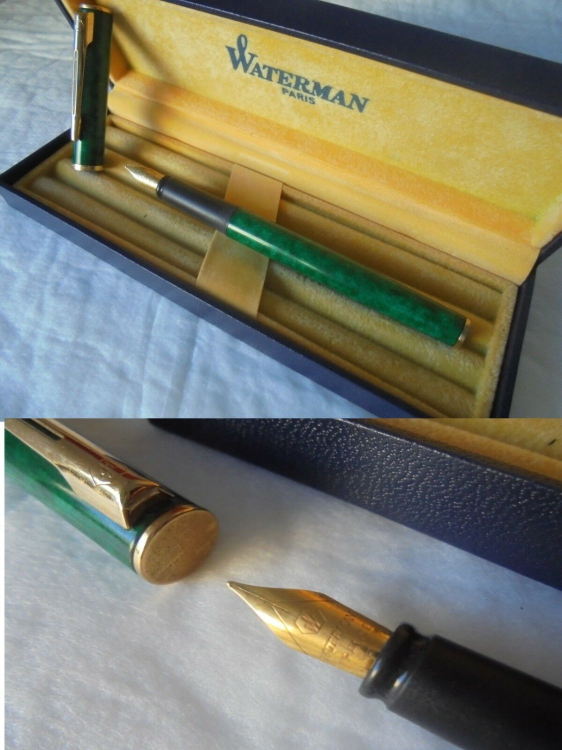 WATERMAN APOSTROPHE Fountain pen lacque green color + gift box Original