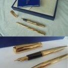 WATERMAN TORSADE SET fountain and ball point pen in gold 18K + gift box Original