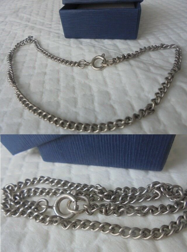 NECKLACE CHOKER chain in SILVER 800 Original in gift box