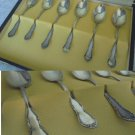 SET of 6 SPOONS for coffee or tea in SILVER 800 Original from 1950s in gift box