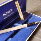 AURORA MAGELLANO fountain pen in sterling SILVER 925 and gold 14K in gift box Original