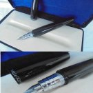 MILLe9CeNTO MILLE 9 CENTO fountain pen lacque black color and in silver Original in gift box