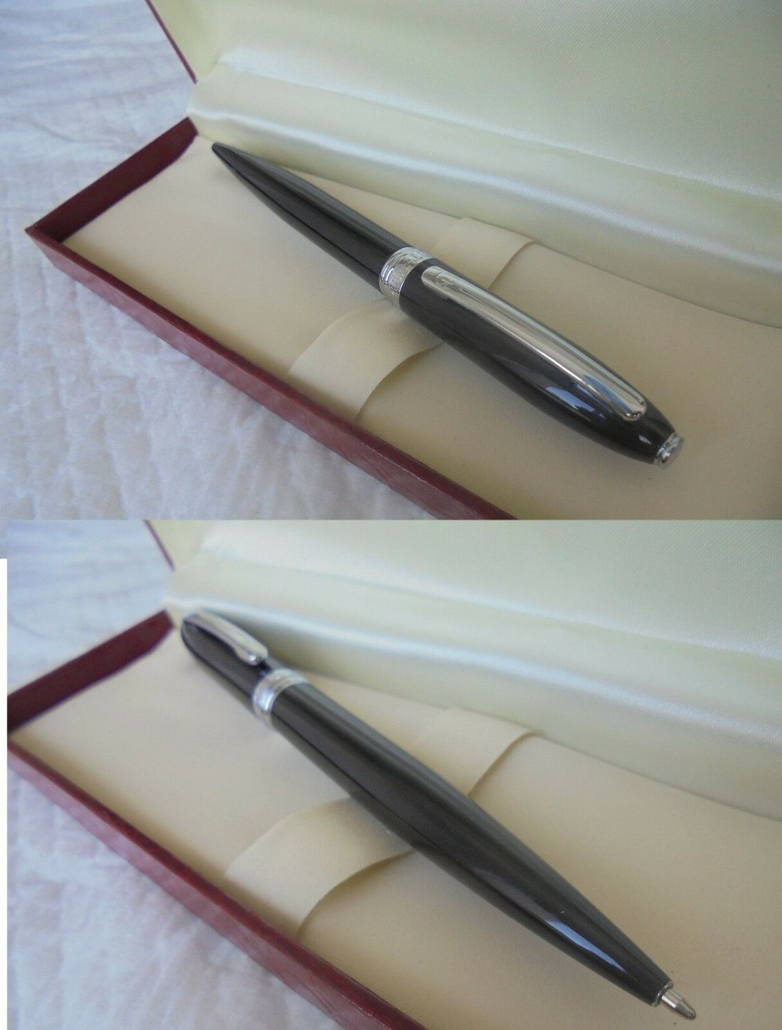 ORIENT EXPRESS train ball PEN lacque black color and in steel Original