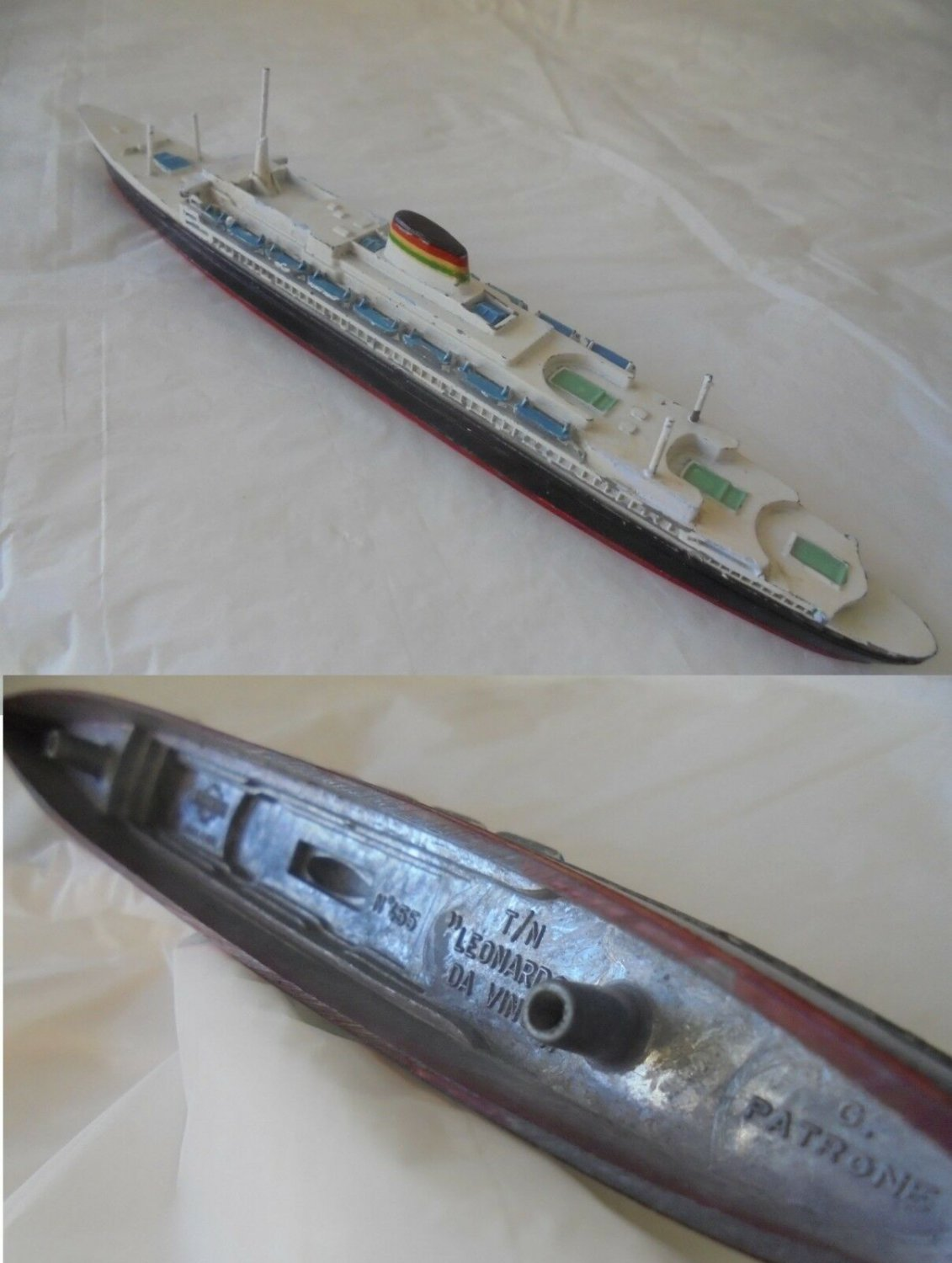 Model of the cruise ship TURBONAVE LEONARDO Da VINCI Mercury 455 Original from 1960