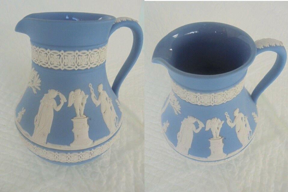WEDGWOOD water PITCHER Jasper blue cobalt NEOCLASSIC Original