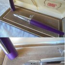 CROSS ATX fountain PEN purple and steel Original in gift box
