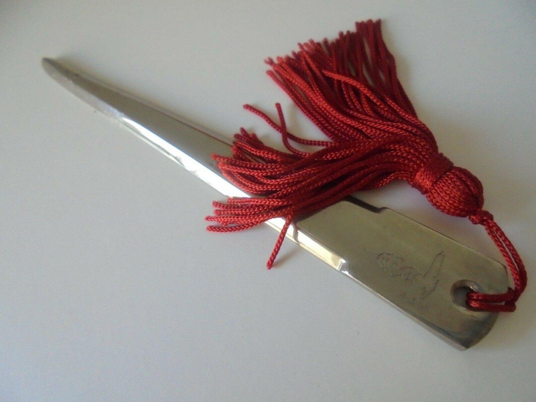 TRUSSARDI PAPER CUTTER knife Original Made in Italy in steel