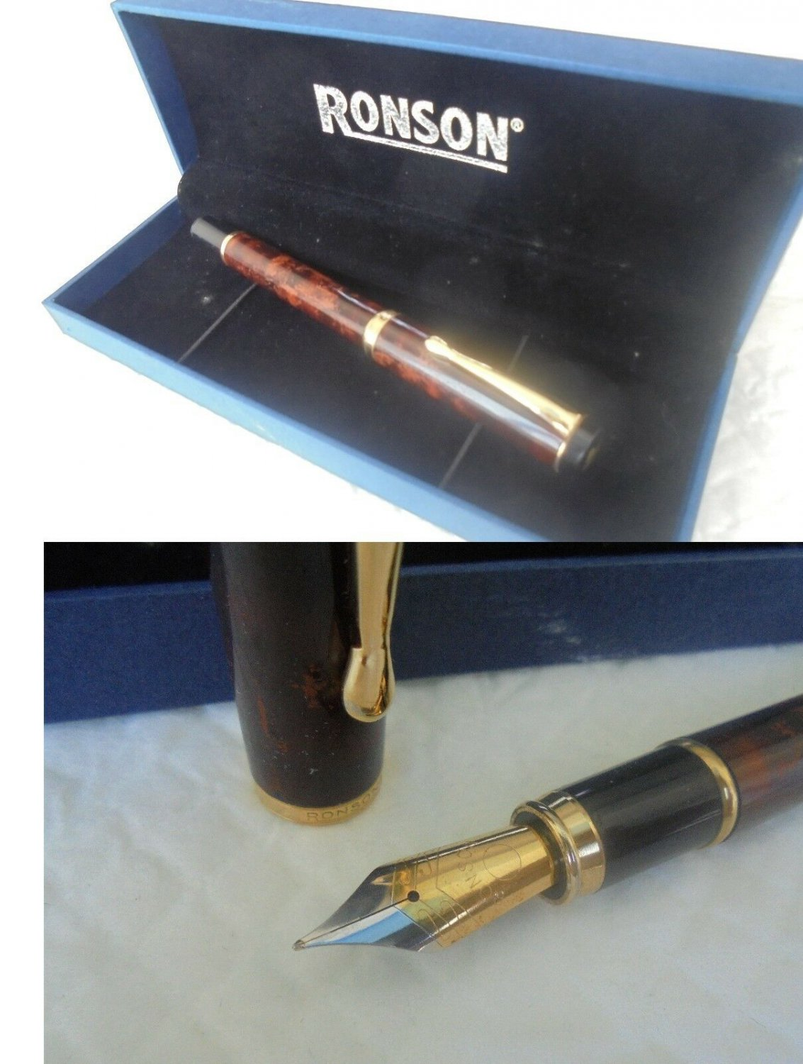 RONSON fountain pen in gift box Original