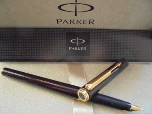 PARKER 95 fountain PEN lacque in brown color in gift box with garantee Original