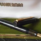 WATERMAN IDEAL fountain PEN in black celluloid from 1950s Original