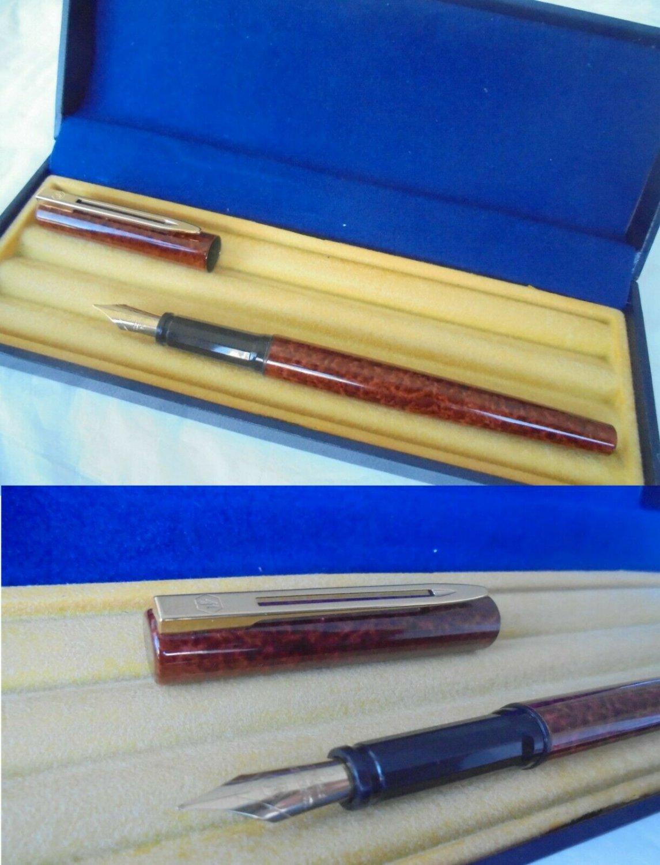 WATERMAN PRO GRADUATE fountain pen lacque in brown color Original in gift box