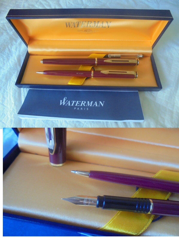 WATERMAN MAESTRO SET fountain pen + ball pen lacque red color Original in gift box with garantee