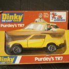 DINKY Toys car 112 PURDEY'S TR7 of 1978 scale 1:35 MIB in gift box Original