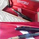 SHEAFFER 500 LEVER FILLER Fountain Pen black and gold 14 Karats Original 1950s in gift box